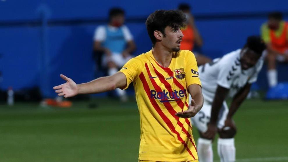 Trincao, durante un partido con el Barcelona.