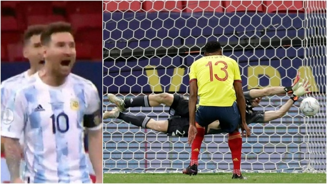 Leo Messi y la reacción en los penales de Colombia