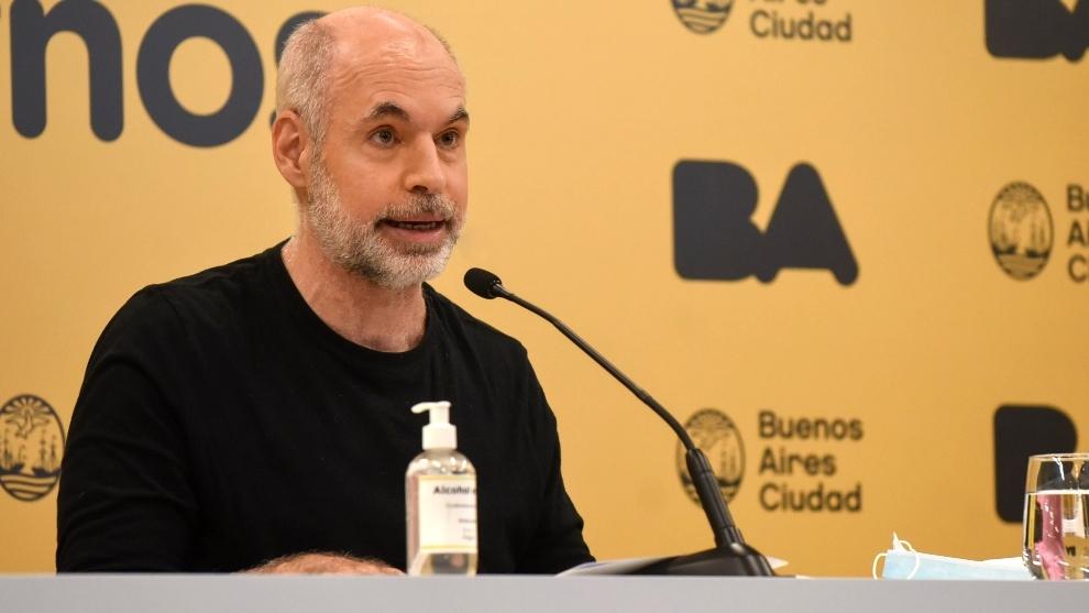 El Jefe de Gobierno Horacio Rodríguez Larreta.