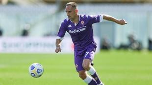 Frank Ribery (38) en un partido con la Fiorentina en la temporada...