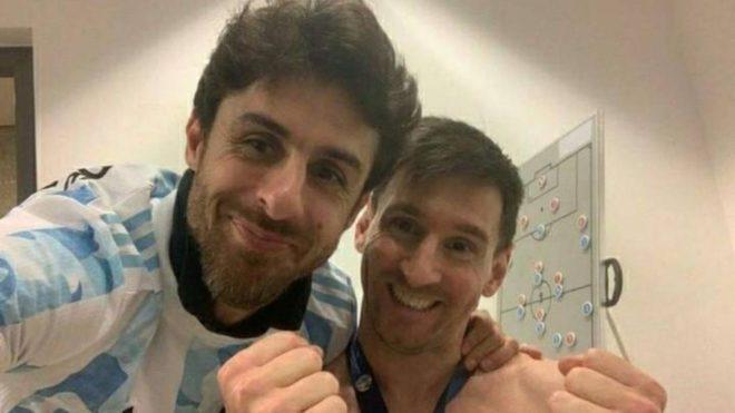Leo Messi y un sueño cumplido junto a su ídolo