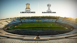 El estadio Centenario, sede de las finales de la Sudamericana y...