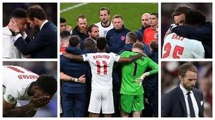 Inglaterra perdió con Italia en los penales en la Eurocopa