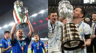 Argentina e Italia se enfrentarían por ser campeones de Copa América...