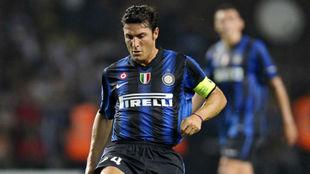 Javier Zanetti en su etapa como jugador de la Inter de Milán.