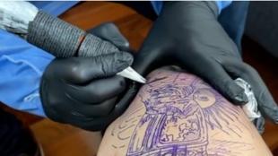 El tatuaje de Ángel Di María.
