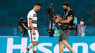 Cristiano Ronaldo tras ser eliminado de la Eurocopa
