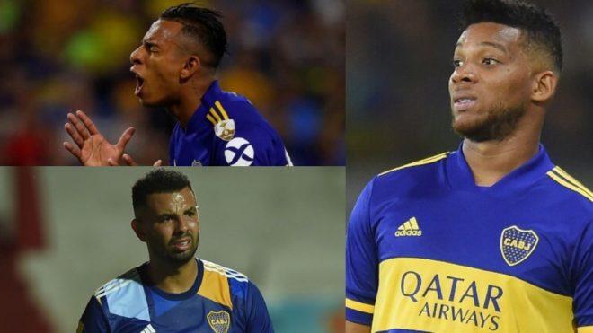 Villa, Cardona y Fabra, los colombianos de Boca.