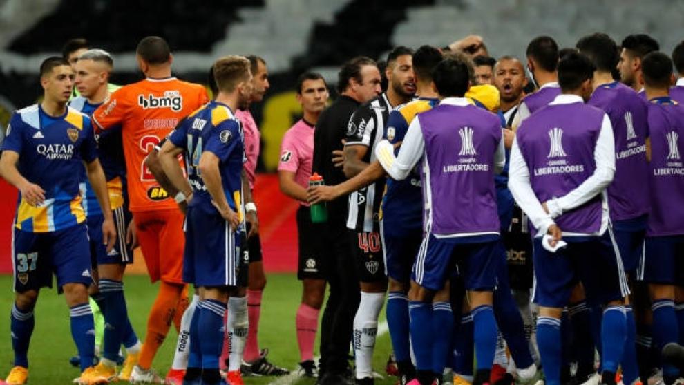 Graves incidentes entre Boca Juniors y los miembros de seguridad de...