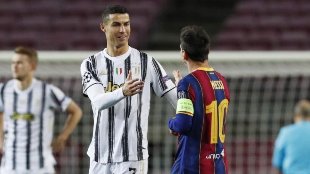 Cristiano y Messi se saludan la última vez que jugaron, triunfo de la...