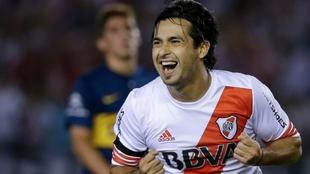 Pisculichi grita su gol más recordado en River, frente a Boca en la...