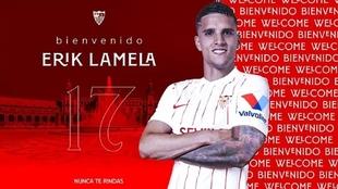 Erik Lamela es el nuevo jugador del Sevilla