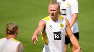 Haaland de vuelta a los entrenamientos con el Borussia de Dortmund