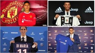 Varane, Cristiano Ronaldo, Di María y Morata.