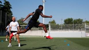 David Alaba en sus primeros entrenamientos con el Real Madrid