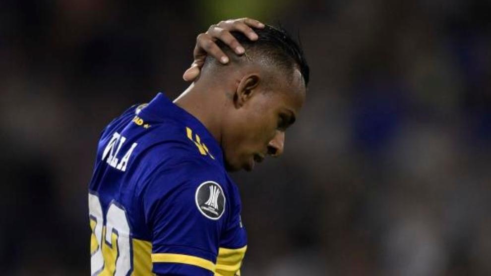 Sebastián Villa, durante un partido.