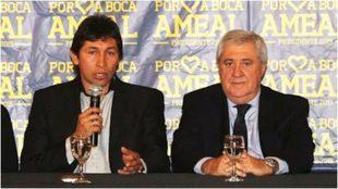 Bermúdez y Ameal, en una conferencia de prensa.