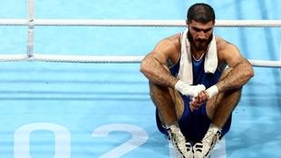 Mourad Aliev (26) tras ser descalificado.