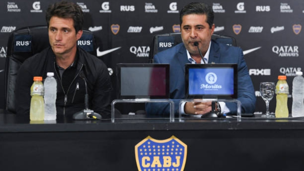 Guillermo Barros, el día que anunciaba su salida de Boca Juniors