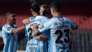 El festejo de los jugadores de Atlético Tucumán.