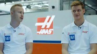 Problemas en Haas con Nikola Mazepin y Mick Schumacher
