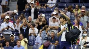 Carlos Alcaraz tras abandonar en el US Open