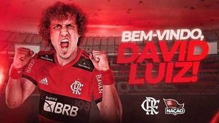 David Luiz, nuevo defensa del Flamengo.