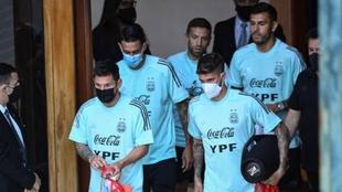 Los jugadores de Argentina agrupados en el hotel de concentración