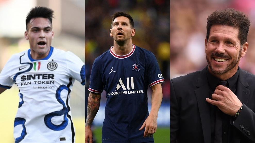 Lautaro, Messi y Simeone, alguno de los protagonistas.