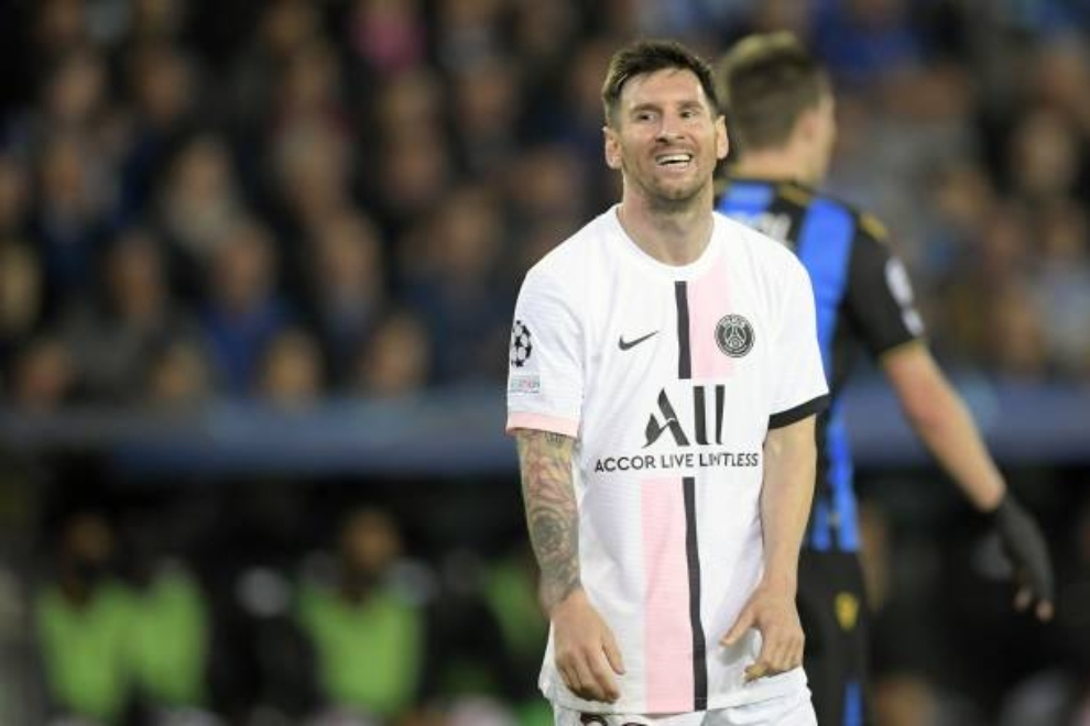 Leo Messi jugador del PSG, en Champions contra el Brujas