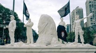 ¿Qué pasó e el Monumento a la Bandera con La Casa de Papel?