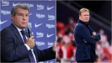 Joan Laporta y Ronald Koeman presidente y actual entrenador del FC...