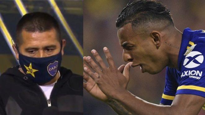 Riquelme y Villa, los protagonistas principales del problema en Boca.