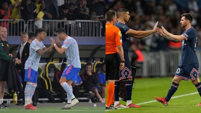 Lingard por CR7 y Hakimi Achraf por Messi, unos cambios relevantes.