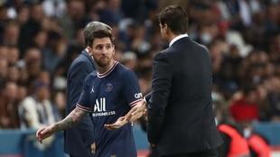 Pochettino reemplazó a Messi en el encuentro del PSG ante Lyon