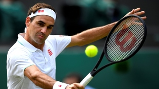 Roger Federer en acción.