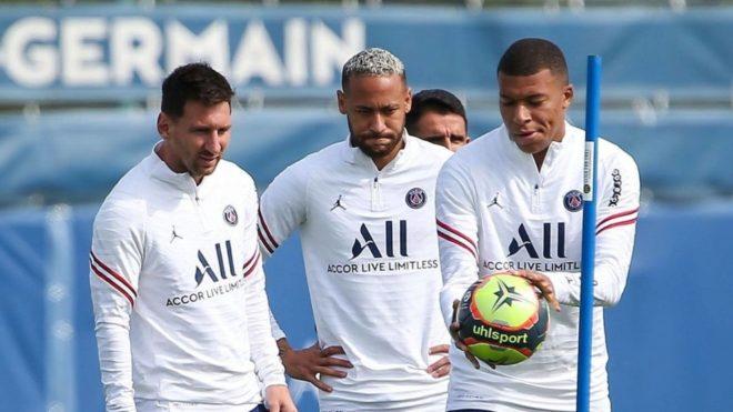 Mbappé, Neymar y Leo Messi, juntos en PSG
