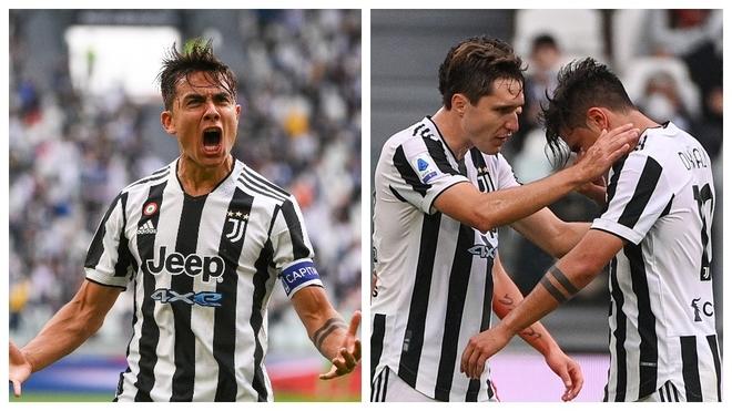 La alegría y las lágrimas de Dybala por su gol y su lesión.