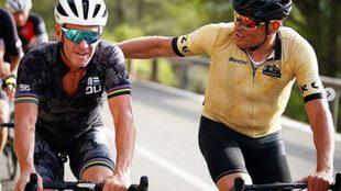 Armstrong y Ullrich, en una prueba cuando ya estaban retirados.