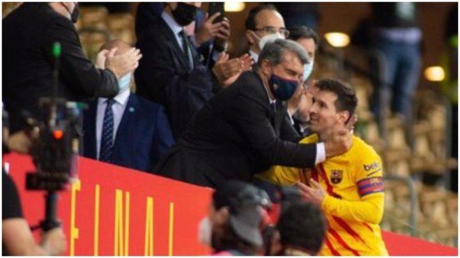 Messi y Laporta, el día que el Barcelona le ganó la final de la Copa...