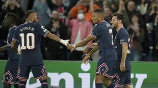 Neymar, Mbappé y Messi.