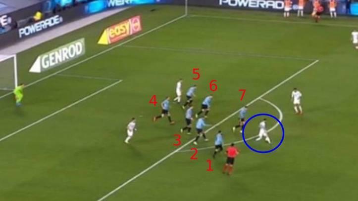 La jugada de Lionel Messi.