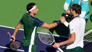 Grigor Dimitrov ganó a Daniil Medvedev en Indian Wells 2021
