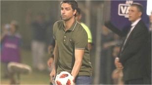 Hernán Rodrigo López, durante un partido.