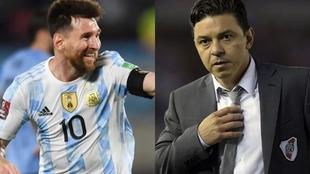 Leo Messi y Marcelo Gallardo.