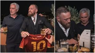 José Mourinho junto a Conor McGregor