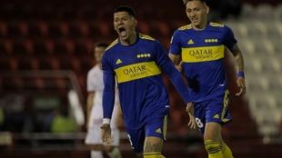 Marcos Rojo convirtió un gol en el triunfo de Boca ante Huracán