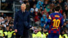 Zidane y Messi, durante un Real Madrid-Barcelona.