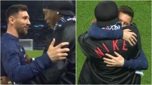 Leo Messi y Ronaldinho, juntos en París