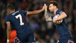 Mbappé y Messi fueron los autores de los goles del PSG ante Leipzig